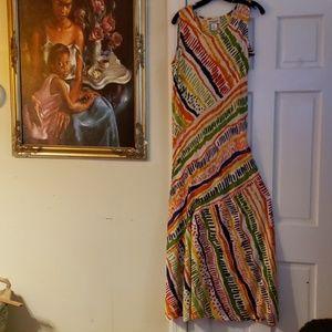 Serengeti Multi-Colour Sleeveless Dress Size PS